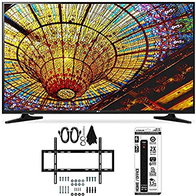 LG 50UH5500 - 50-Inch 4K Ultra HD Smart LED TV w/ webOS 3.0 Flat Wall Mount Bundle includes TV, Slim Flat Wall Mount Ultimate Kit and 6 Outlet Power Strip with Dual USB Ports