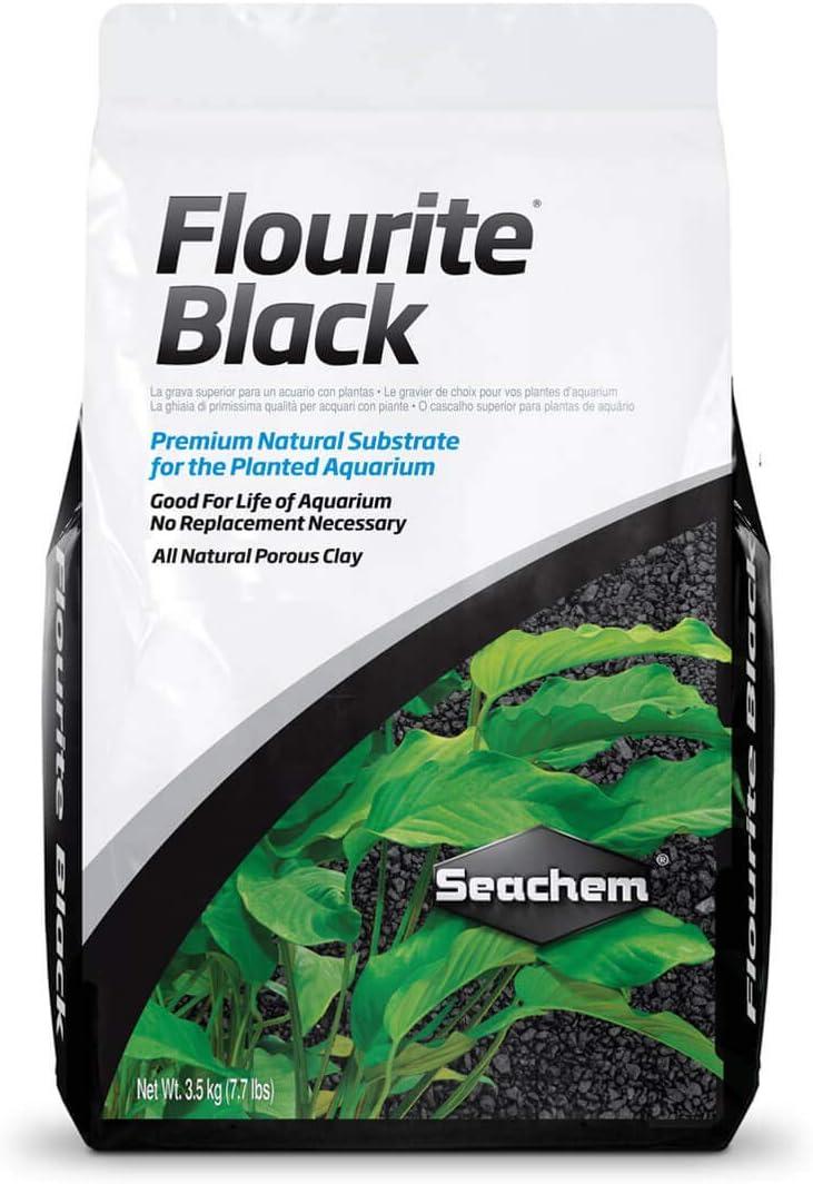 Seachem Flourite - Grava de Arcilla Negra - Sustrato de Acuario Natural Estable
