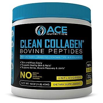 a06daf070c9d6 Collagen Peptides By ACE Nutrition – Clean Collagen Powder Bovine Peptides  (16oz) – Pasture...