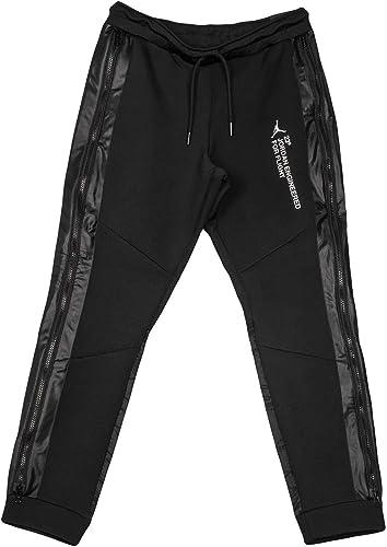 envase Regaño ecuación  Amazon.com: Jordan Nike Men's 23 Engineered Pants Black/White ...