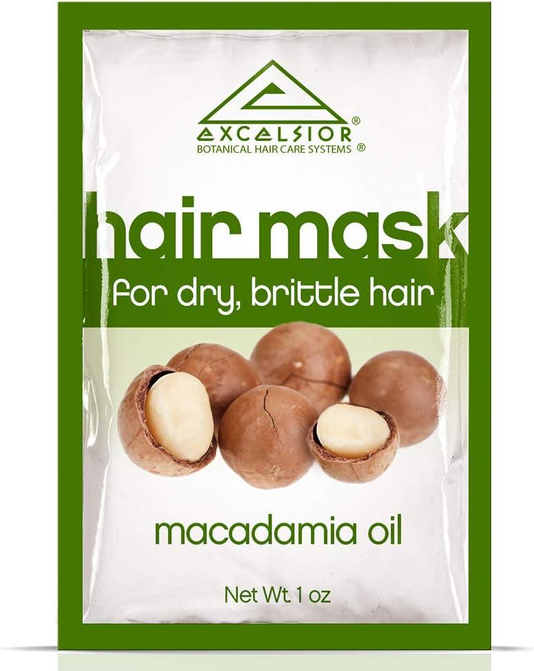 Máscara Excelsior Macadamia Aceite de pelo paquetito 3 ml (paquete de 12)