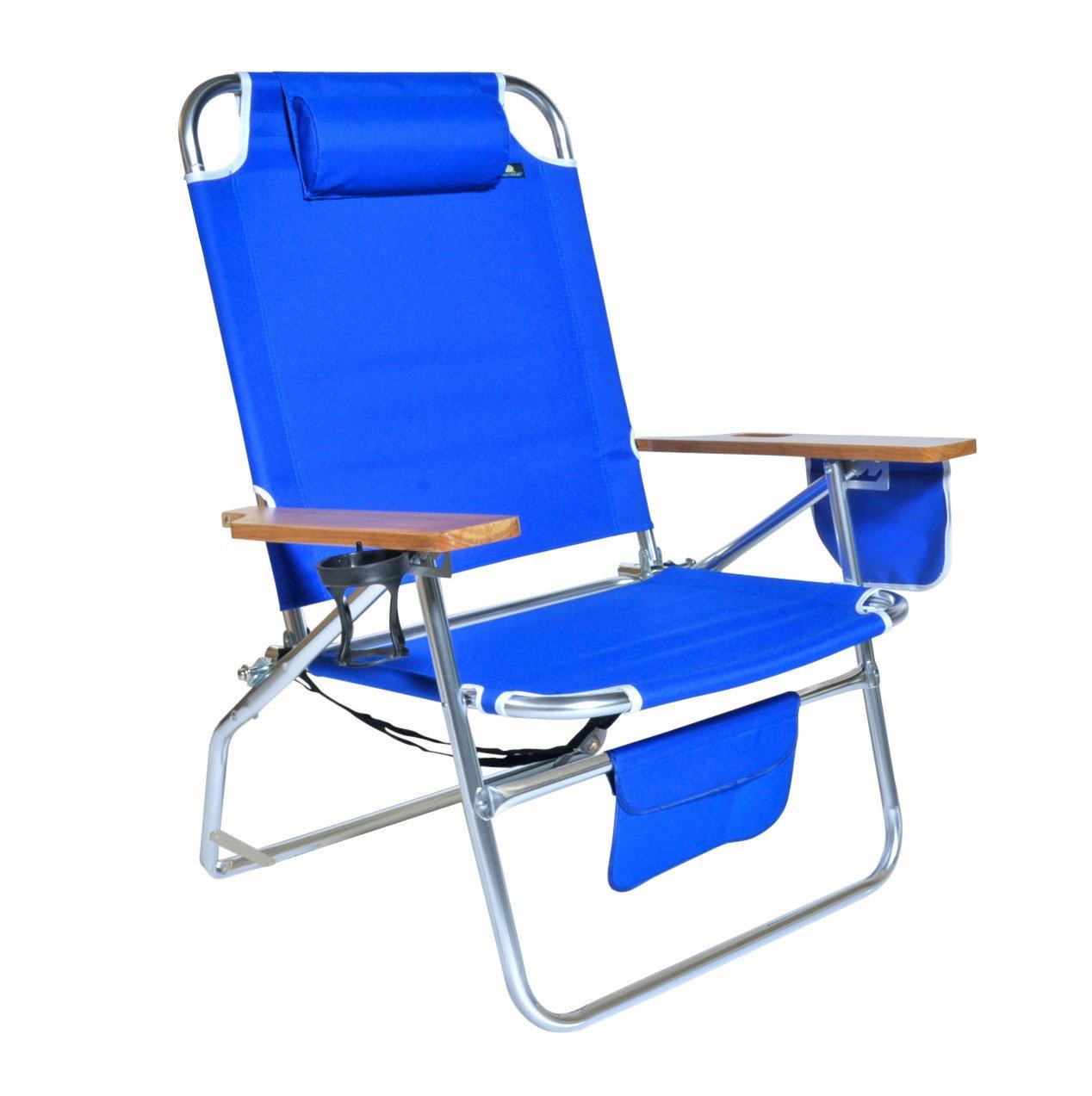 BigジャンボHeavy Duty 500 lbs XLアルミビーチ椅子for Big & Tall B0027R2ZWU  ブルー