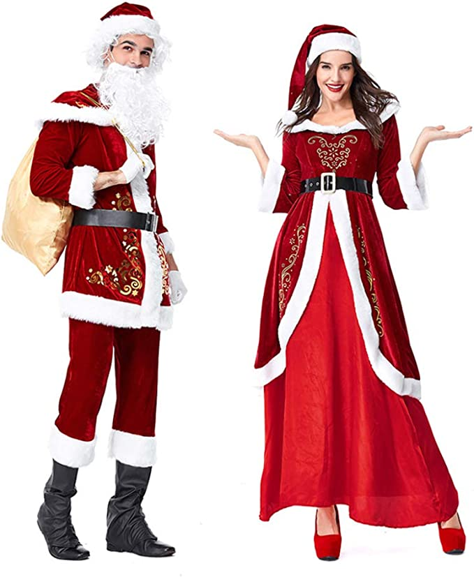 FAFY Traje De Navidad De Santa Claus Disfraz De Navidad Cosplay ...