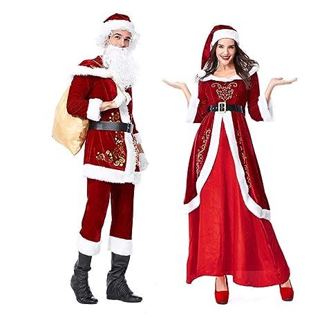FAFY Traje De Navidad De Santa Claus Disfraz De Navidad ...