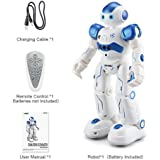Tawcal Smart Remote Control Robot for Kids - Intelligent programmable rc Robot Toy Educational, Gesture Sensing Robot kit Singing Dancing Gift for Boys 4-12 Year Old Blue