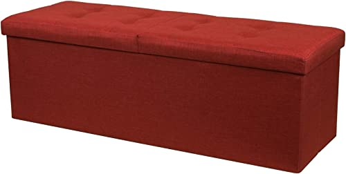 Crown Comfort Storage Ottoman Bench 45 Inch Smart Lift Top