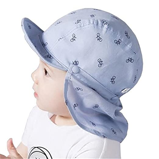 a3a18502bdd Kangkang  Baby Boy Sun Hats Spring Summer Caps with Shawl Cotton Bucket Hat  Baby Kids