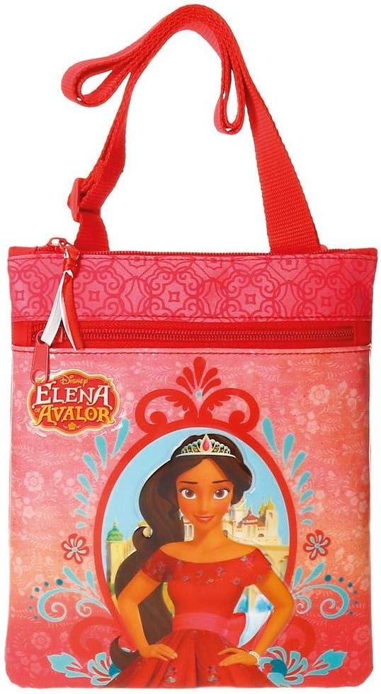 1.02 litros Disney Elena de Avalor Bolso Bandolera Rojo 17 cm