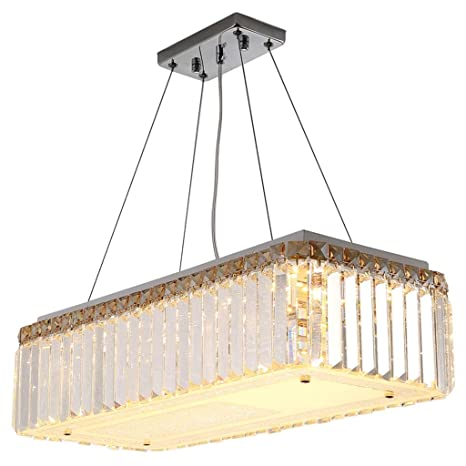Araña $iluminación Lámpara de Cristal LED de Cristal ...