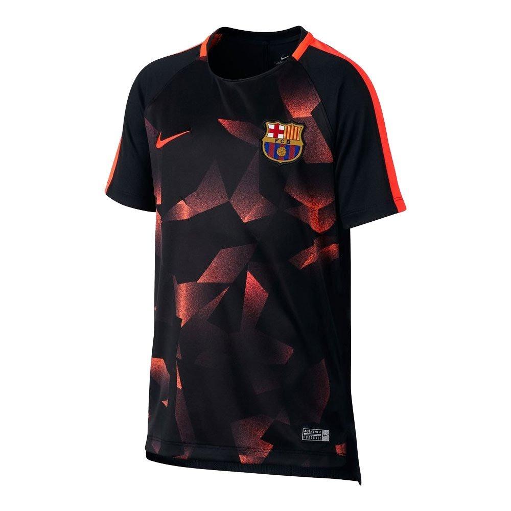 2017-2018 Barcelona Nike Pre-Match Dry Training Shirt (Black) Kids B076C5YLL9Black SB 25-27\
