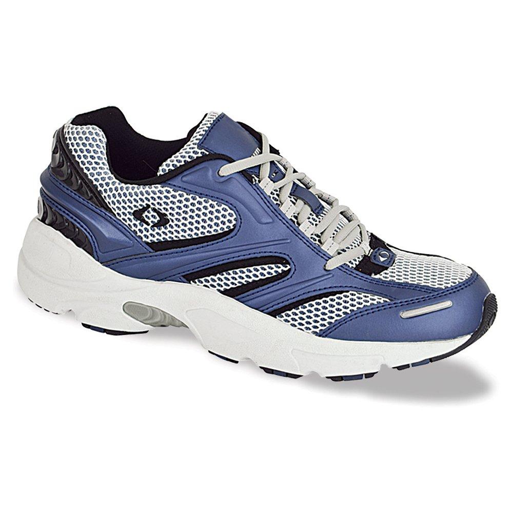 Apex Women's Stealth Runner Running Shoes B000K3E9PE 6.5 3E US|Metallic Blue/Grey