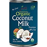 Organic Coconut Milk 13.5 Ounce (Pack of 12) Premium - Unsweetened, FULL 18% Fat, Vegan, Paleo, No Guar Gum, BPA Free, Keto F
