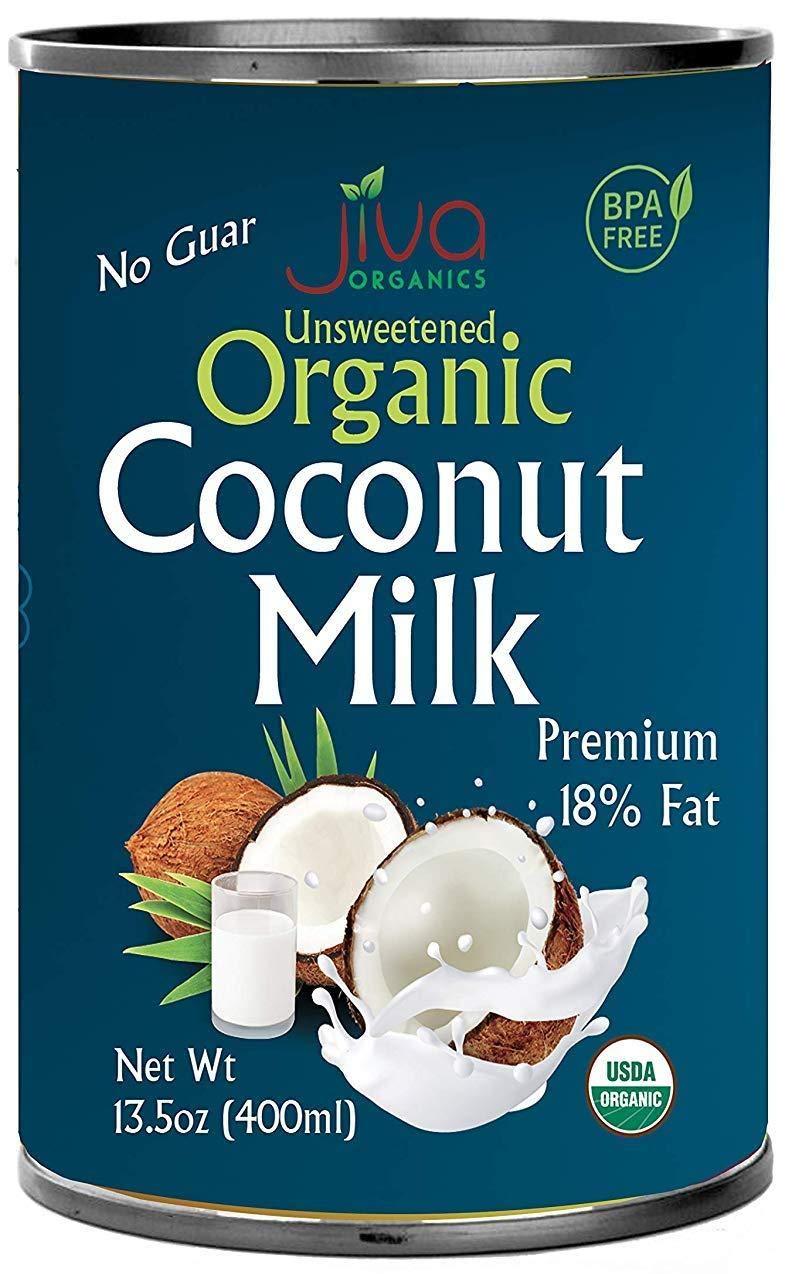 Unsweetened, Full 18% Fat, Vegan, Paleo, No Guar Gum, Bpa Free, Keto Friendly - By Jiva Organics