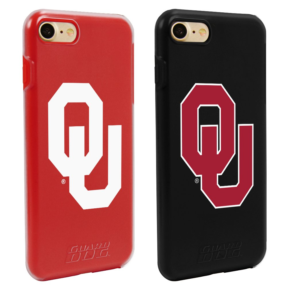 Guard Dog Oklahoma Sooners Fan Pack (2 Cases) for iPhone 7/8 with Guard Glass Screen Protector by Guard Dog