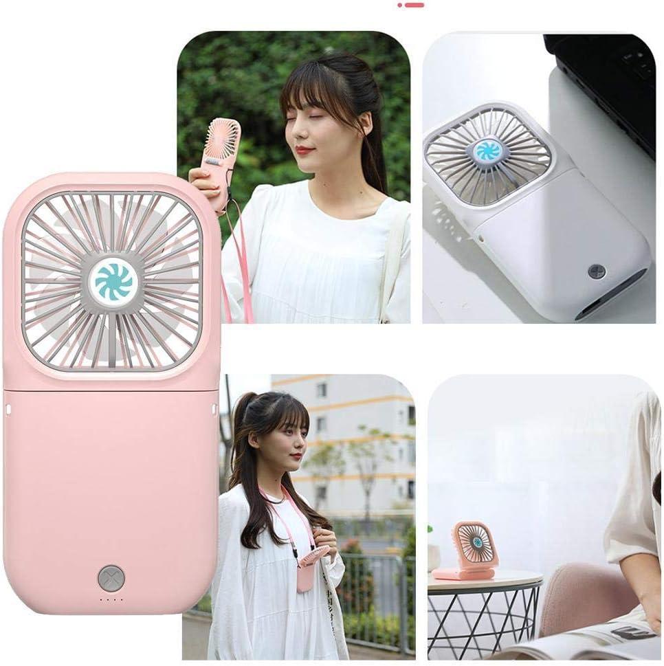 LINKLANK Mini ventilateurs USB portables, pliables et rechargeables, convient pour la maison, le bureau, le voyage, le camping, la randonnée rose Vert
