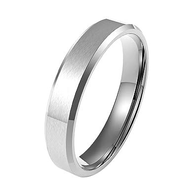 Coolman Edelstahl Ring Herren Ringe Hochzeit Ringe Mode Ringe 5mm