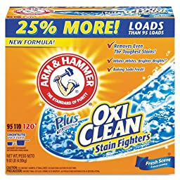 Arm & Hammer  33200-06510 Powder Laundry Detergent Plus OxiClean  Fresh Scent  10 lbs (Pack of 3)
