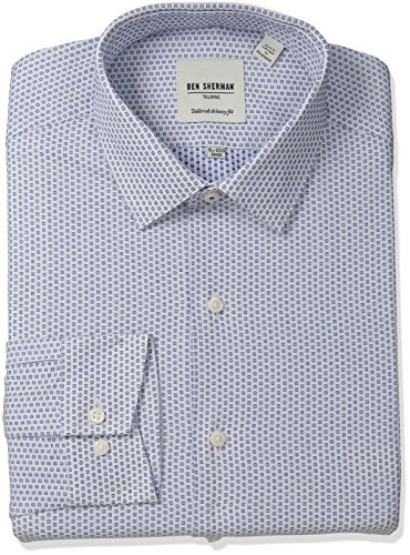 ben-sherman-mens-skinny-fit-floral-dobby-spread-collar-dress-shirt-navy-white-155-neck-32-33-sleeve