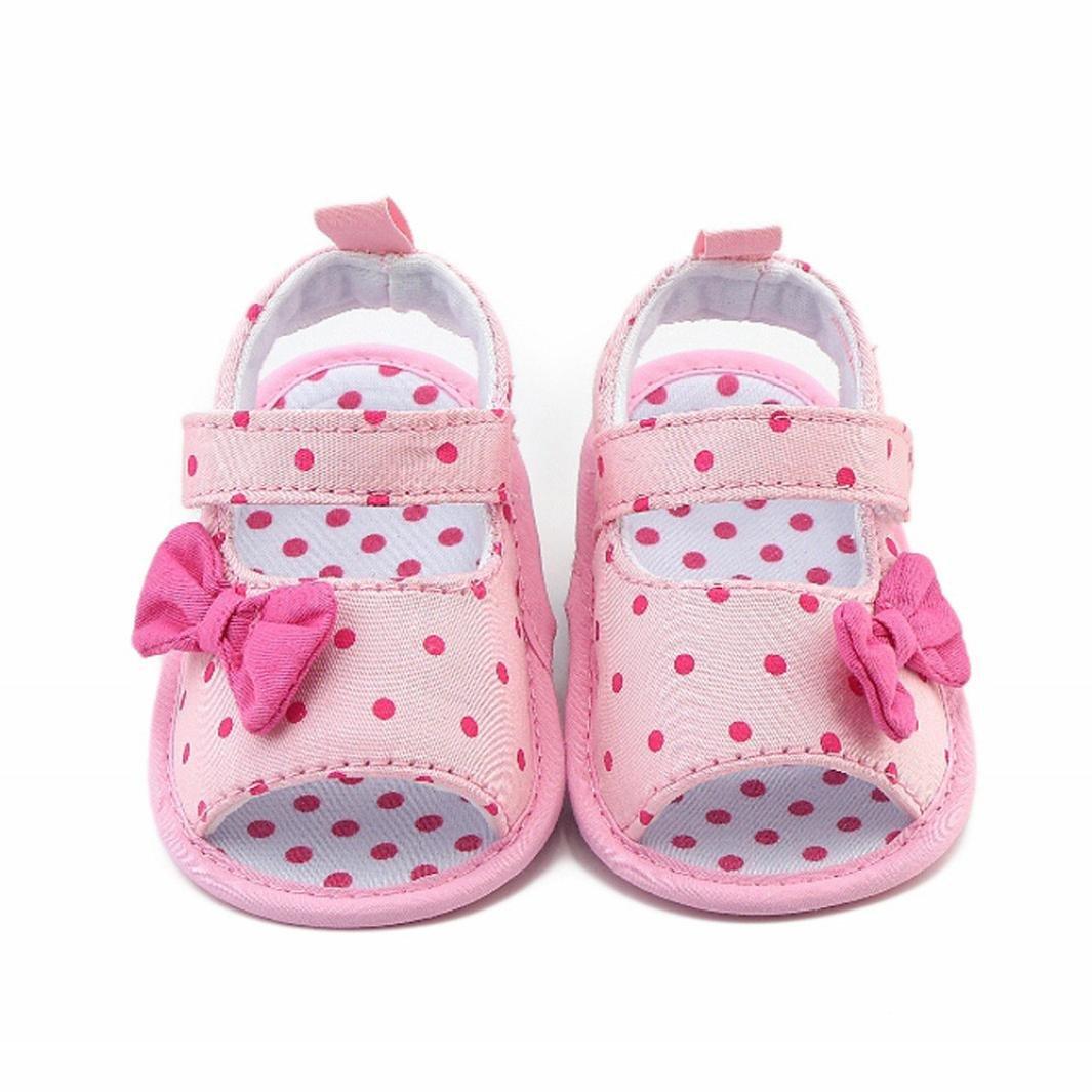 Zapatos Bebé prewalker verano Xinantime Sandalias bebé Niña Bebé Zapatos Princesa Bowknot - Zapatos de vestir (3-6 meses, Rosa): Amazon.es: Relojes