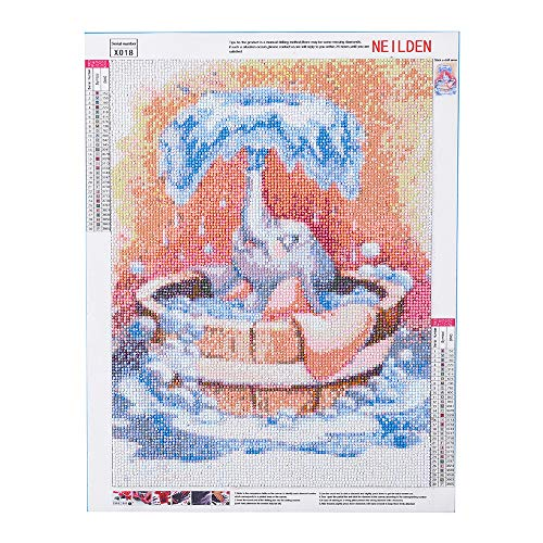 5D Diamond Painting Kits for Adult, Round Full Drill Embroidery Cross Stitch Paint with Diamonds Arts Craft, Gift for Family Friends 11.8×15.7 Inches(Fly Elephant Dumbo)
