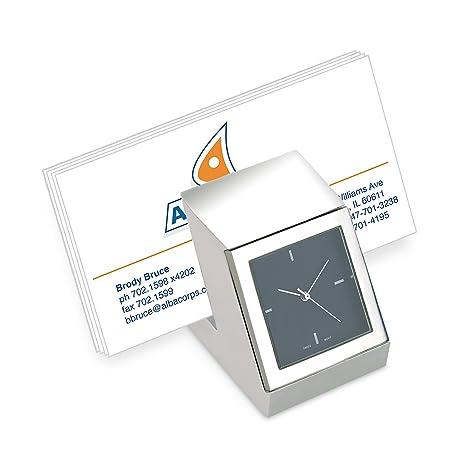 Amazon.com: Reloj de computadora con soporte para tarjeta de ...