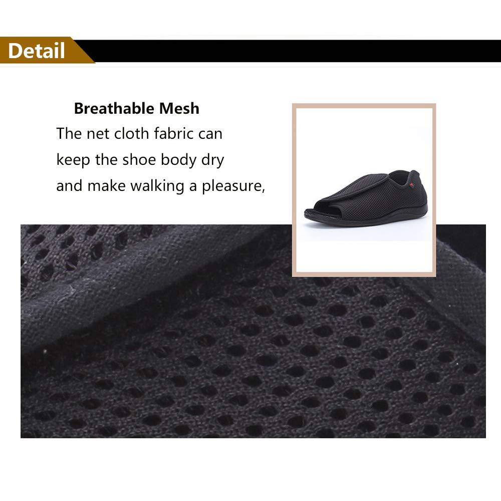 NEPPT Diabetic Shoes Slippers Orthopedic Arthritis Feet Extra Wide Sandals Men