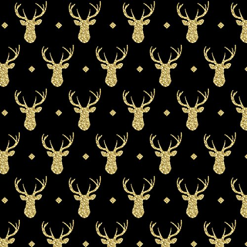 Vinyl Boutique Shop Craft Heat Transfer Gold Faux Glitter Antler Vinyl Sheet Heat Transfer Vinyl HT-0224-10