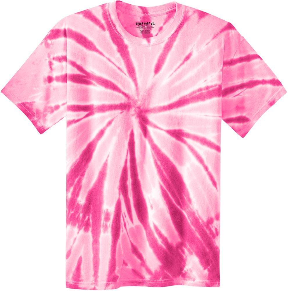 Joe's USA Koloa Surf (tm) Youth Colorful Tie-Dye T-Shirt,M-Pink