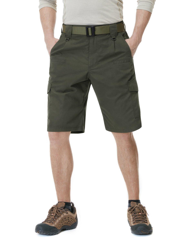 CQR CQ-TSP202-GRN_36 Men's Tactical Lightweight Utiliy EDC Cargo Work Uniform Shorts TSP202
