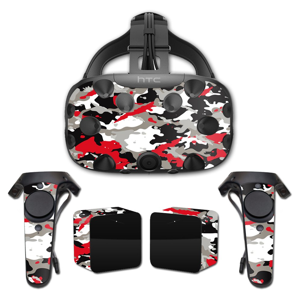MightySkins Skin For HTC Vive Full Coverage - Red Camo | Protective, Durable, and Unique Vinyl Decal wrap cover | Easy To Apply, Remove, and Change Styles | Made in the USA