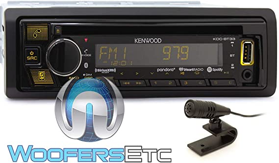 Kenwood KDC-BT33 Single Din CD Audio Receiver with Bluetooth