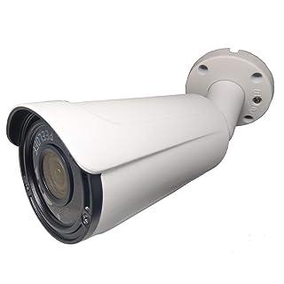 101AV 1080P True Full-HD Security IR Bullet Camera 4 in 1(TVI, AHD, CVI, CVBS) 2.4Megapixel CMOS Image Sensor 2.8-12mm Variable Focus Lens in/Outdoor WDR OSD Camera (White)