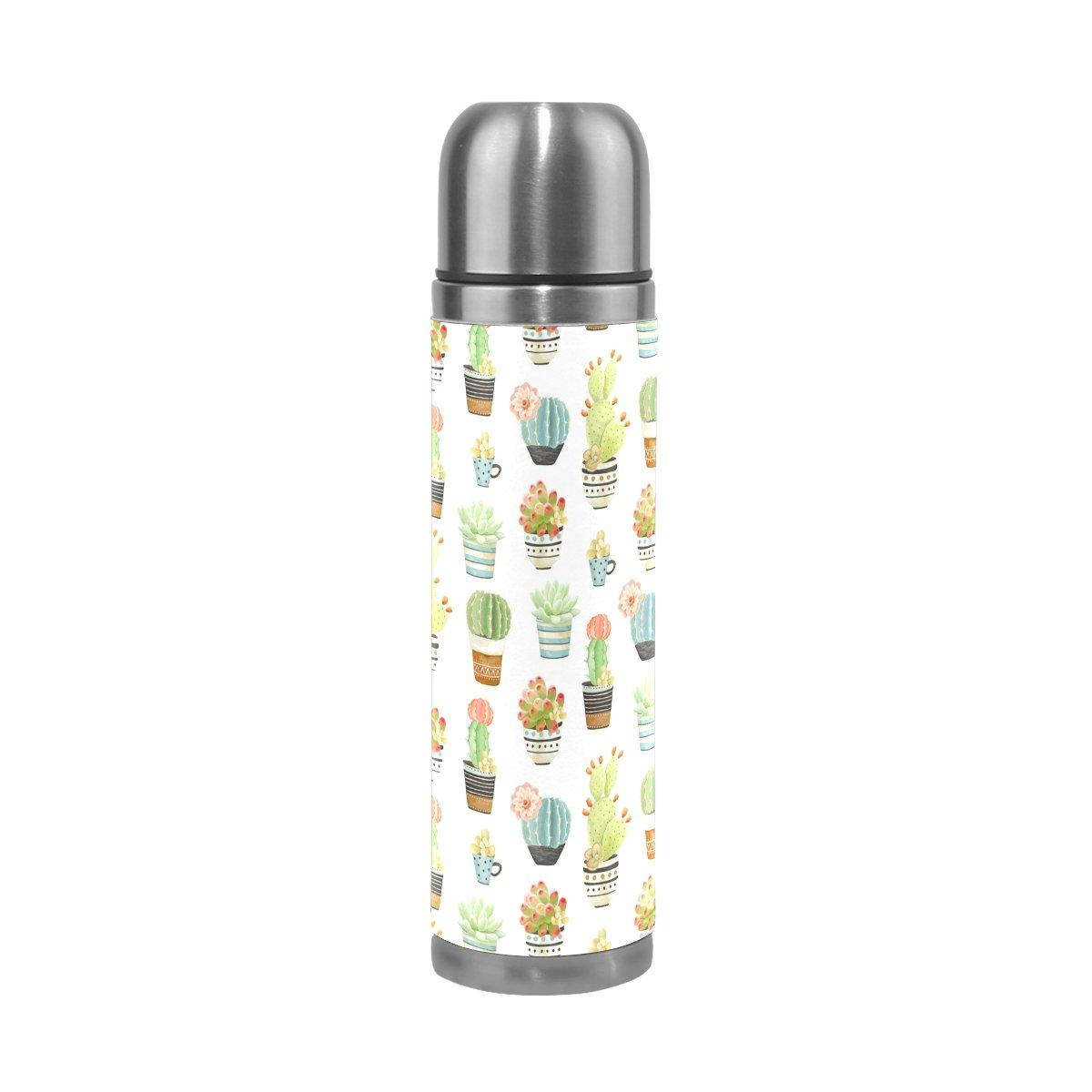 Alaza Cactus真空断熱水ボトルleak-proof二重壁ステンレス鋼魔法瓶旅行マグ17 oz B074WL7DNQ