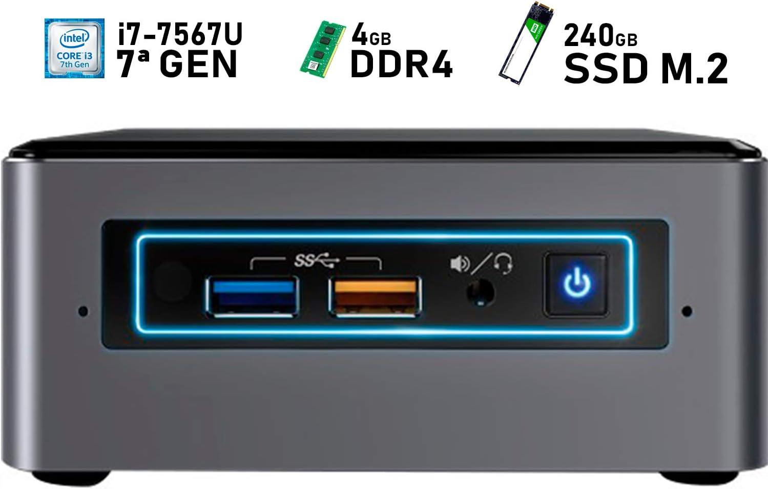 Intel NUC i7-7567U + 8GB DDR4 + 240GB SSD M.2 + Windows 10 Pro ...