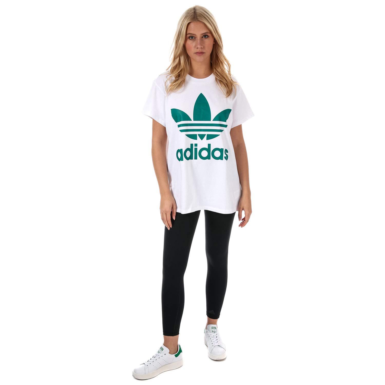 163ac2cb Amazon.com: adidas Originals Women's Big Trefoil Tshirt Sub 3 White: adidas  Originals: Clothing