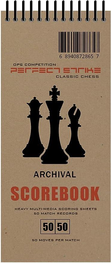 Strike Libro de puntuación de ajedrez con Reglas e Instrucciones de puntuación. Muy Resistente. Calidad de Archivo. Ideal para práctica y competición, Natural: Amazon.es: Deportes y aire libre
