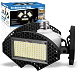 LED Garage Lights,100W Deformable LED Garage Ceiling Lights12500 LM CRI 80 Led Shop Lights for Garage, Garage Lights with 3 A