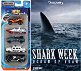Shark Week: Ocean of Fear Discovery DVD & Matchbox Shark Week Exclusive Discovery Channel 2 Disc set 5 car Special Edition set Movie pack Set