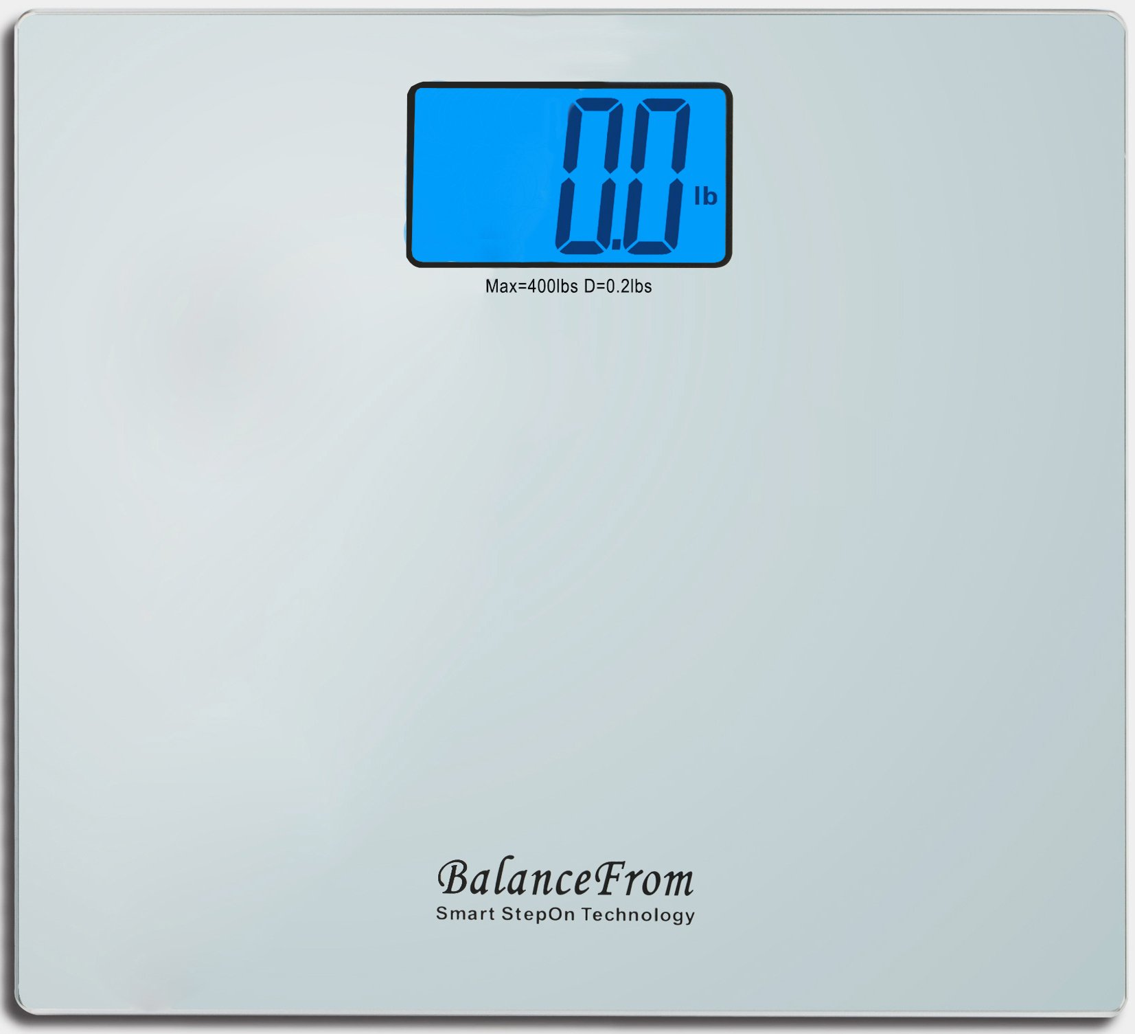 BalanceFrom High Accuracy Digital Bathroom Scale with Large Backlight Display and''Step-On'' Technology [Newest Version] (Silver)