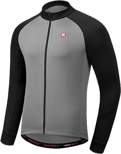 Men/'s Full Zipper Cycling Jersey Long Sleeves MTB Bike Jerseys Shirts Clothing