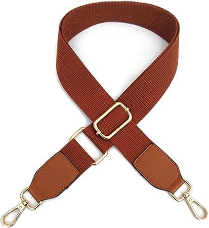 Correa de repuesto para bolsa de hombro de 125 cm de largo, cinta de algodón ajustable, color sólido, para bolso cruzado talla única marrón: Amazon.es: Hogar
