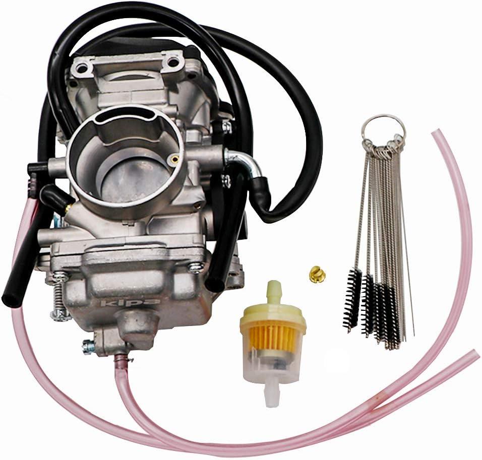 KIPA Carburetor For Yamaha TTR225 TTR 225 Dirt Bike 1999-2004, Replace OEM Part Number 5FG-14901-00-00, With Carbon Dirt Jet Cleaner Tool Kit & Fuel Filter