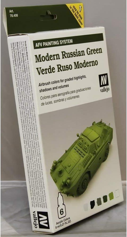 /VTT moderne russe Vert Vallejo Mod/èle de couleur darmure de couleur/