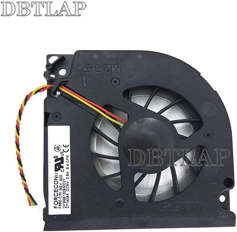 DBTLAP Laptop CPU Fan Compatible for Dell Inspiron 1501 1505 6000 9100 9200 9300 Precision M6300 M90 XPS M170 M1710 Vostro 1000 CPU Cooling Fan
