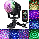 HONGYU Charge Party Lights Sound Activated Strobe Light Disco Ball Dj Party Lights Portable LED 7colors Night light Disco Lighting Show for Christmas Parties DJ Karaoke Wedding Outdoor with Remote