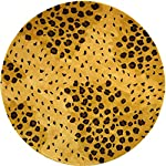 Safavieh Soho Collection SOH715A Handmade Gold and Black Premium Wool Round Area Rug (6 Diameter)