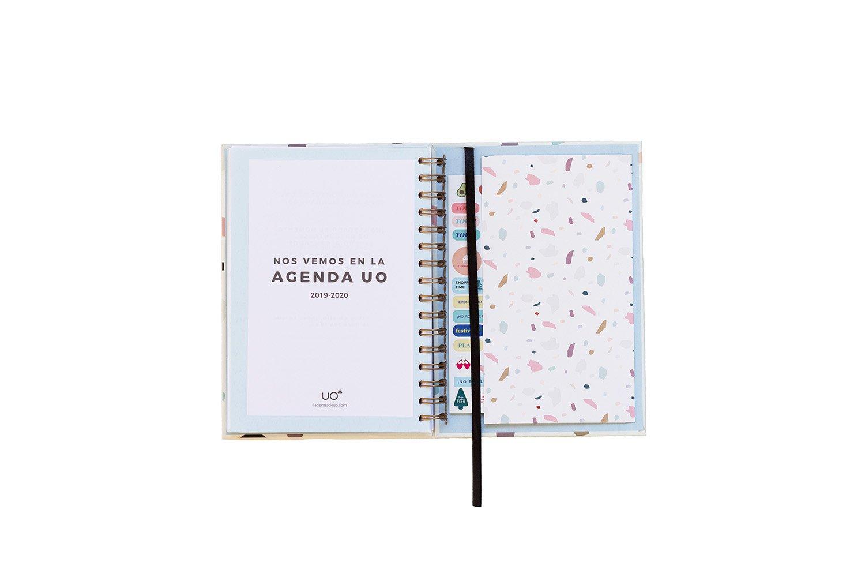 UO AG189AC1 - Agenda 2018-2019 semana vista, diseño Terrazzo