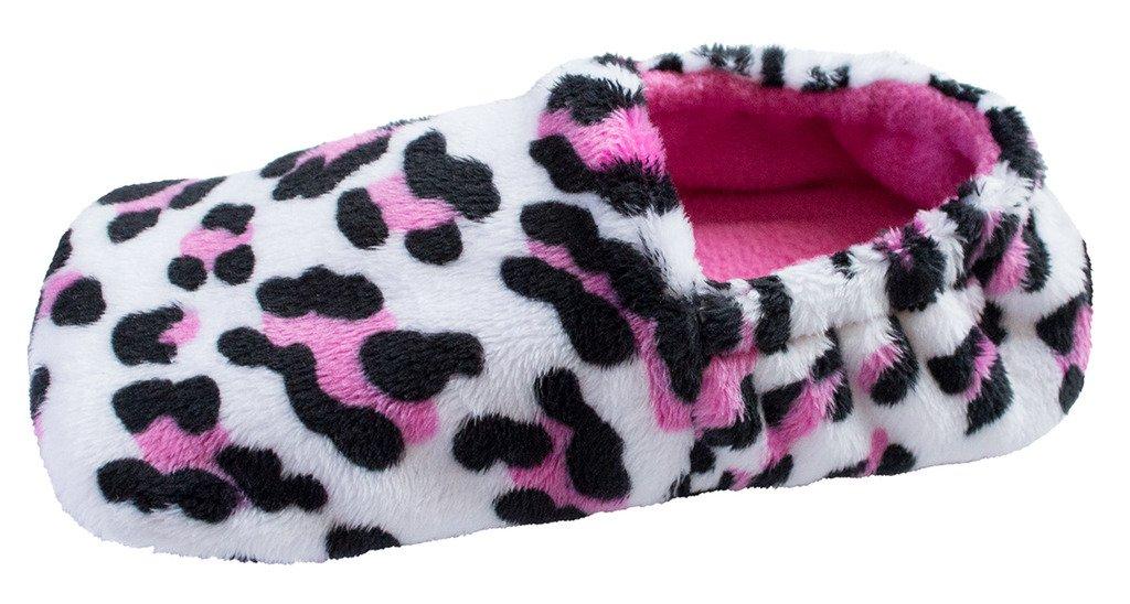 Toddler Lightweight Micro Fleece Slippers - Little Leopard - Size 5