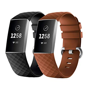 Fmway Correa Reloj Fitbit Charge 3, 2 Paquetes Repuesto de Correa ...