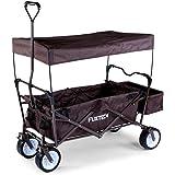 Fuxtec BW-100Marron Chariot pour enfant avec freins, (x4, toit, sacoche arrière